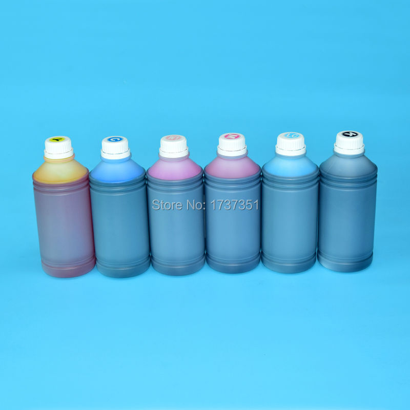 6 color 1000ml printing dye ink for Epson PP100 printer