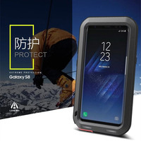 LOVE MEI Shockproof Dirtproof Snowproof Life Waterproof Resistant Metal Armor Aluminum Silicon Cover Case For Samsung