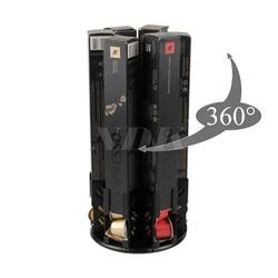 Coffee Capsule Pod 360 Degree Revolving Holder Storage Stand for Stores Nespresso Capsules Pods Black Color Cast Iron