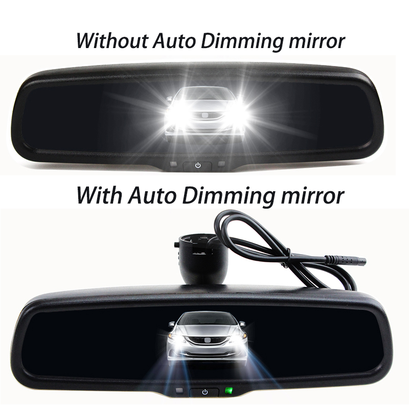 HaiSunny Dynamic Trajectory Tracks Rear View Camera With 4.3 Inch HD 800*480  Auto Dimming Rearview Mirror Monitor Lahore