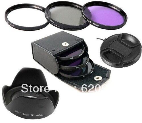100% GARANTIA 6 in1 67mm uv + cpl + fld filter + parasol de lente + - Cámara y foto - foto 1