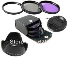 100% GUARANTEE 6 in1 67mm uv+cpl +fld filter+lens hood+lens cap for FOR CANON EOS 7D 50D 5D 60D T3I 18-200MM