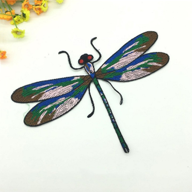 Colorful Dragonfly Fabric Patches Iron On Or Sewing For Bag Dress Clothes  Decorated Embroidery Applique Accessories