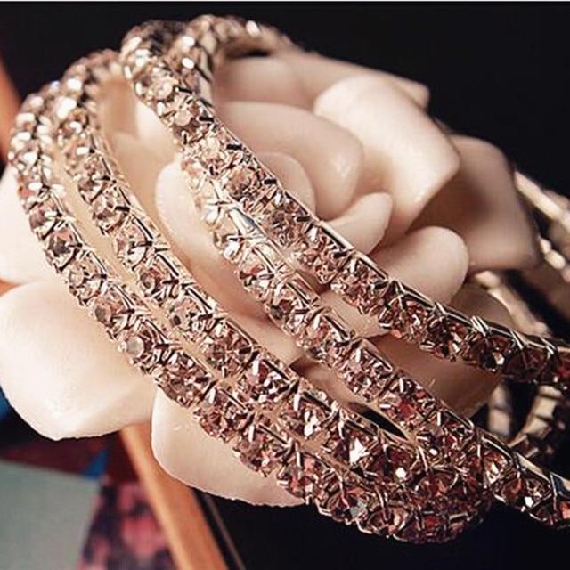 1PC New Women's Fashion Retro Vintage Noble Exquisite Rhinestone Shining Bracele