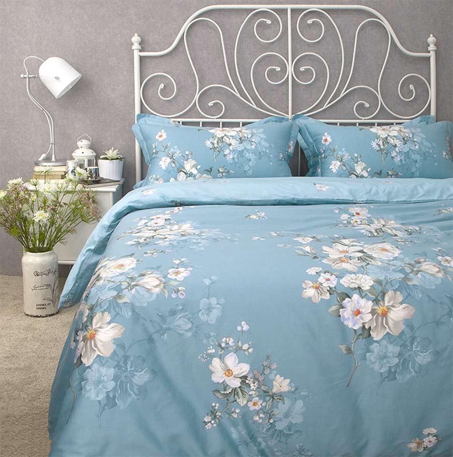 moda clsica americana rstico juego de cama rey reina llena de algodn pastoral azul