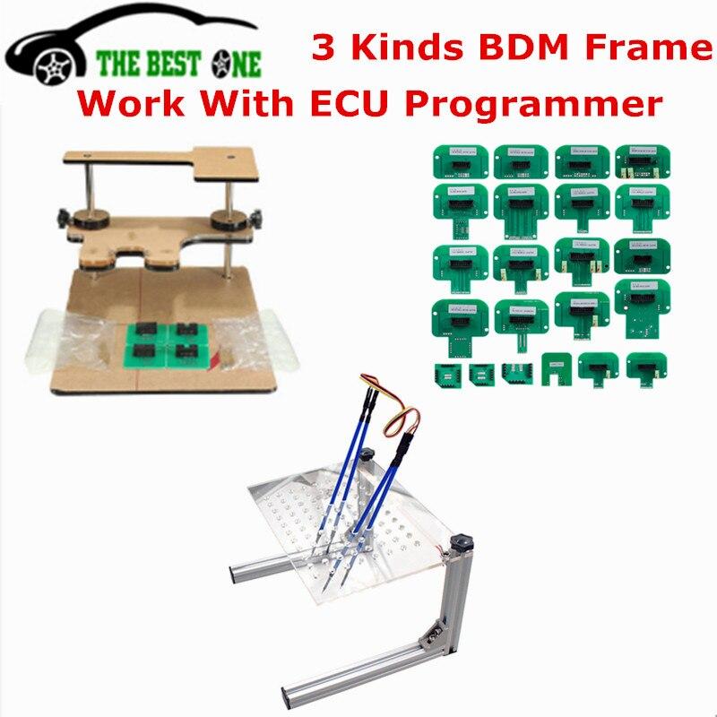 Лучшее качество металлический светодиодный BDM Рамка стальная сталь с 4 щуп ручки 22 шт. BDM Адаптеры для KTAG/KESS/Fgtech ECU чип Тюнинг инструмент