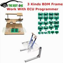 Cadre métallique LED BDM en acier inoxydable, avec 4 stylos de sonde, 22 pièces adaptateurs BDM pour KTAG/KESS/Fgtech outil de réglage des puces ECU