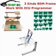 Najlepsza jakość metalowa rama LED BDM stal nierdzewna z 4 sonda wtyczki 22 sztuk adaptery BDM dla KTAG/KESS/Fgtech ECU Chip stroik