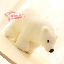 10 pieces a lot cute plush polar bear toy lovely white polar bear doll gift about 25cm