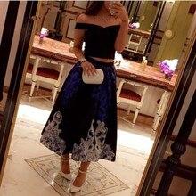 2017 Hot Sale Arabia V Neck Cap Sleeve Black Short Prom Dress 2017 vestido de festa longo Two Pieces Tea Length Party Gown EG11
