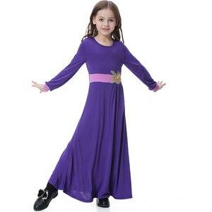 Image 4 - Elatic Kids kleding Traditionele Mode Meisjes jurk Moslim islamitische dubai arabisch abaya Kinderen thoub jubah VKDR1330