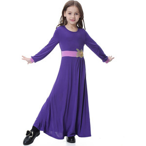 Image 4 - Elatic Trẻ Em quần áo Truyền Thống Thời Trang Đầm Bé Gái Hồi Giáo hồi giáo Dubai tiếng Ả Rập abaya Trẻ Em thoub jubah VKDR1330