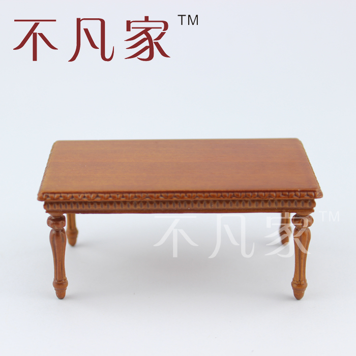 Dollhouse 1/12 scale miniature furniture Hand Carved Fine tea table