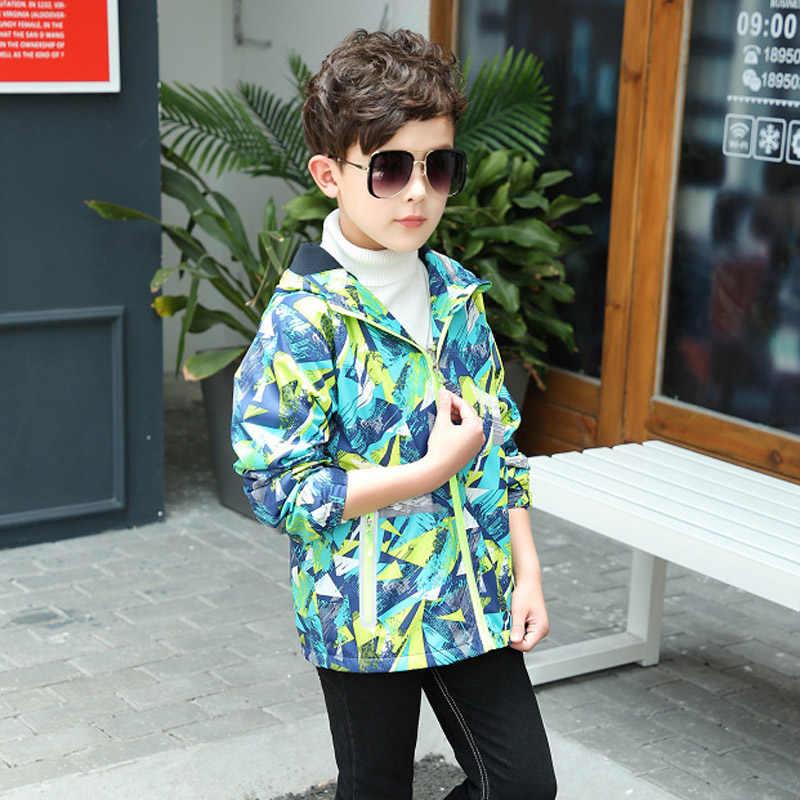 Детская верхняя одежда, теплое флисовое пальто с капюшоном, детская одежда, непромокаемые ветрозащитные куртки для маленьких мальчиков, для От 3 до 12 лет, осень-весна