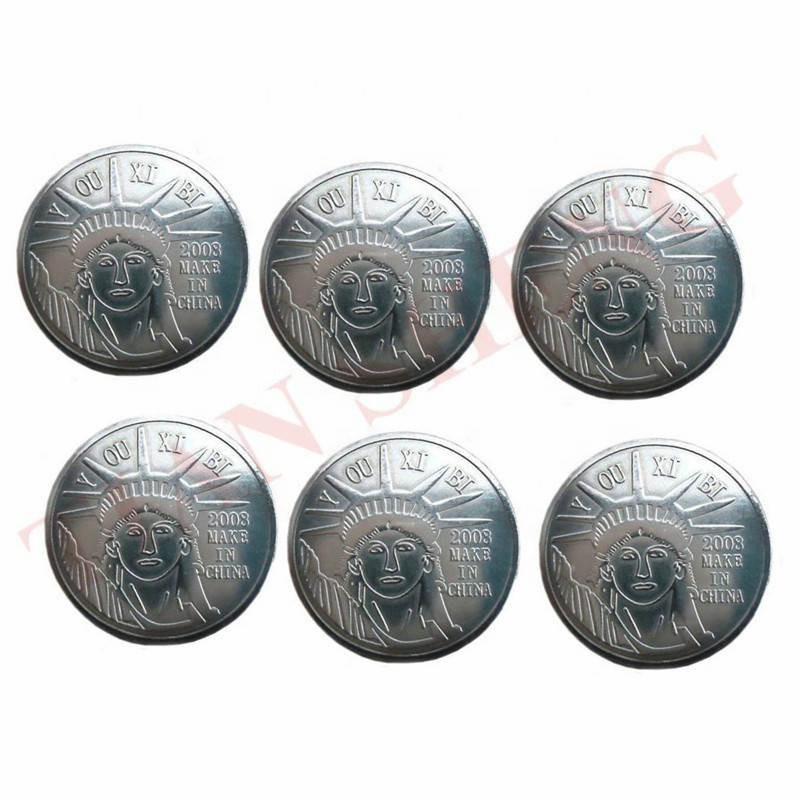 100Pcs/Lot 25*1.85mm Amusement Custom Arcade Game Token Coin Metal Tokens Wholesale/arcade Game Coins For Sale