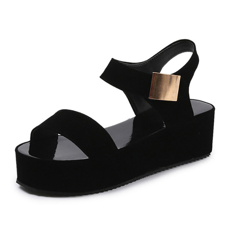 New Women Shoes Summer Wedge Sandals Suede Women Sandals Light Platform Sandals Female Sandalie Ladies Shoes Women CreeperNew Women Shoes Summer Wedge Sandals Suede Women Sandals Light Platform Sandals Female Sandalie Ladies Shoes Women Creeper