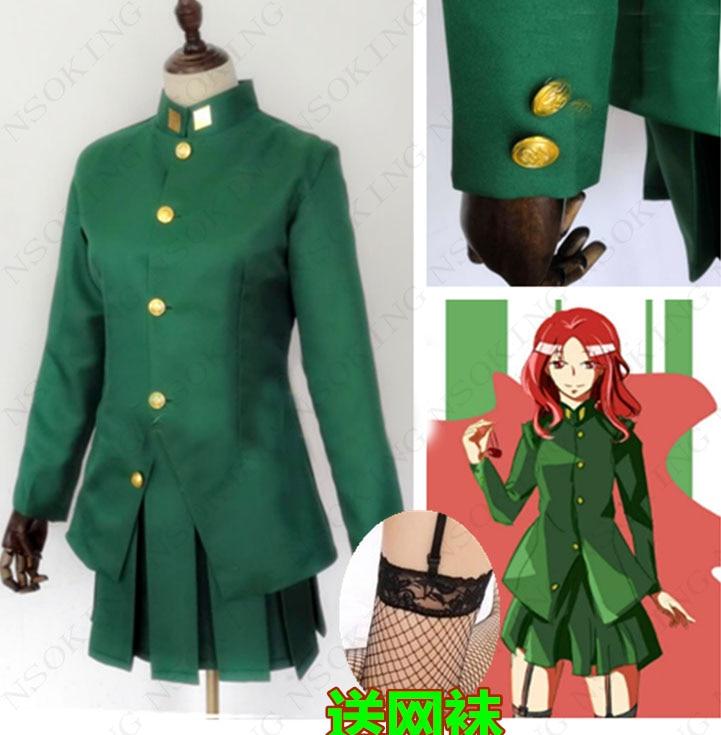Anime JoJo's Bizarre Adventure Kakyoin Noriaki Cosplay Costume custom made