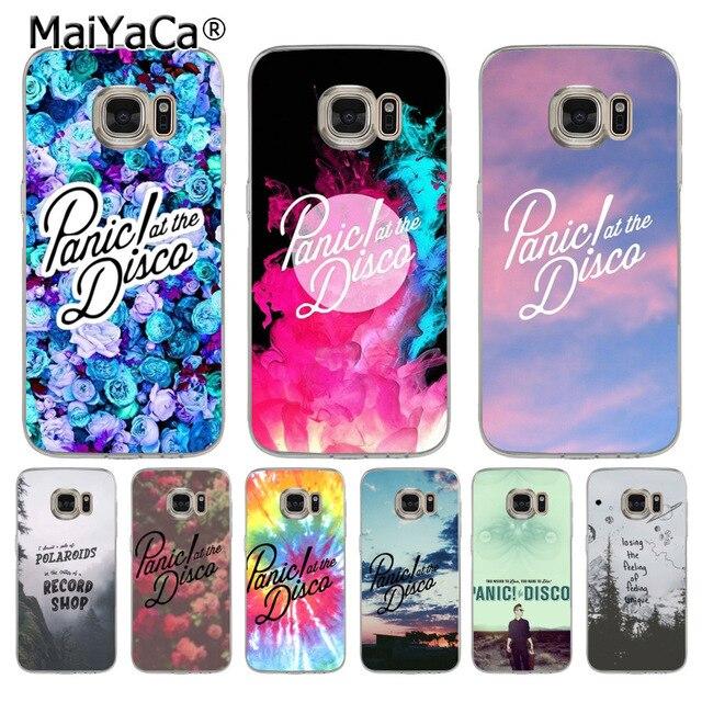 maiyaca panic at the disco fashion luxury phone case accessories formaiyaca panic at the disco fashion luxury phone case accessories for samsung galaxy s8 s7 edge s6 edge plus s5 s9 case