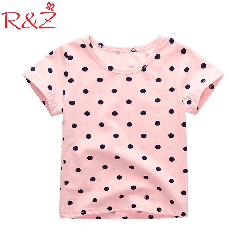 Children's T-Shirt Korean Tops Kids Clothes Short-Sleeved Baby Cotton Summer New Dot