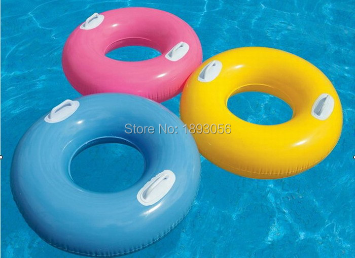 76cm Pure Color Handle Inflatable Pvc Swim Tube Adult
