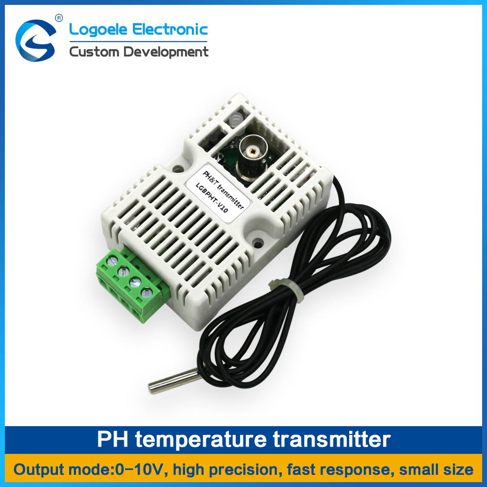 LOGOELE PH and Temperature Controller Acquisition Detection Sensor Module RS485/4-20mA/0-10V/0-5V PH Temperature Transmitter