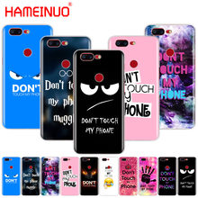 HAMEINUO Do Not dont Touch My Phone cover phone case for Oneplus one plus 6 5T 5 3 3t 2 X A3000 A5000(China)