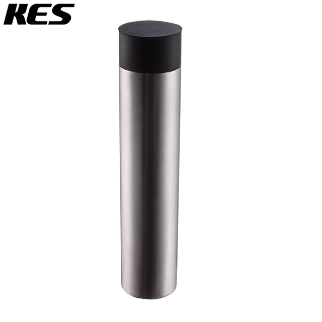 KES SUS 304 Stainless Steel Contemporary Safety Door Stop Metal Door Holder  Doorstop With Rubber Bumper