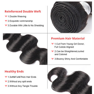 Image 5 - Пряди волнистых бразильских волос с закрытием, пряди из натуральных волос, 1/3/4 шт.