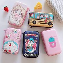 Cartoon Zipper Phone Accessories Travel Storage Bag Pouch Box For Apple Airpods Headphone Data Cable Charger Power Bank Coin Key