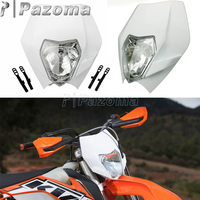 E4 Emark 35W motosiklet Motocross Supermoto far beyaz far Fairing için Yamaha Kawasaki KTM MX EXC SX WR DRZ KLX KX YZ