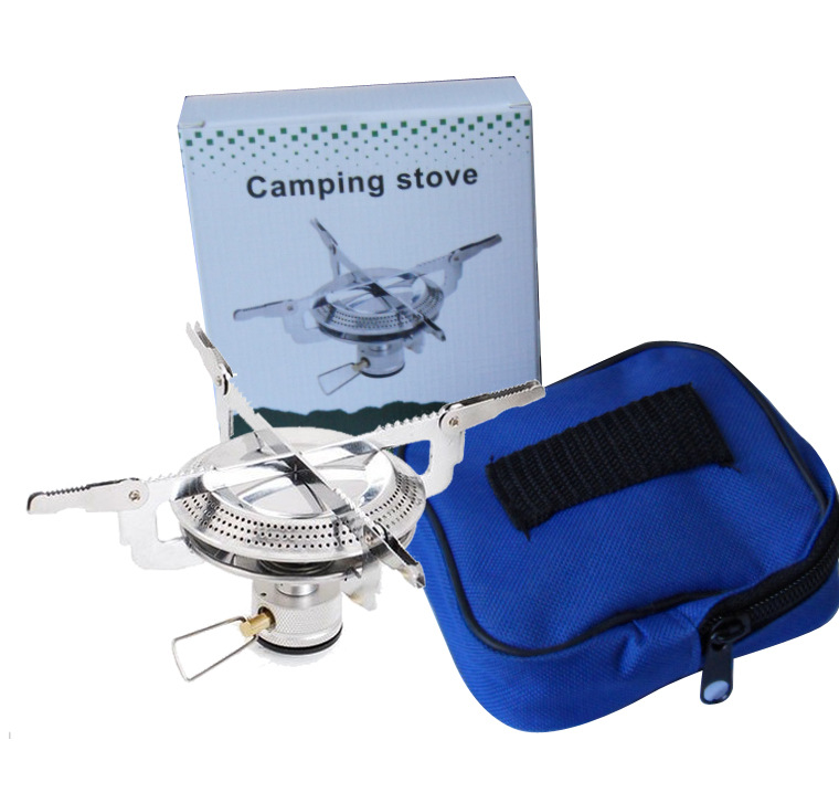Poratable Folding Outdoor Stove Cookware Gas Burner Camping Stove For Hiking Picnic BBQ Gas Stove Tank Cooker Furnace End