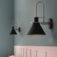 New Nordic wall lamp Bedside Bedroom Modern living room Walkway Staircase Simple iron belt LED