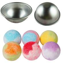 DIY инструмент для СПА Аксессуары 1 шт. 5,5*2,5 см мини алюминиевый сплав мелкий полукруг Бомба для ванны соляной Шар Металлическая Форма 3D Сферическая форма