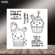 AZSG Cute Cactus Clear Stamps/Seals For DIY Scrapbooking/Card Making/Album Decorative Silicone Stamp Crafts