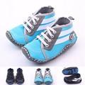 Nuevo bebé recién nacido Unisex niños niñas niño niños Prewalker exterior zapatos infantiles del niño del ocio clásico con suela de goma zapatos del holgazán