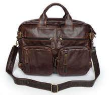 Nesituที่มีคุณภาพสูงหนังแท้ผู้ชายกระเป๋าเอกสารหนังแท้Messengerธุรกิจกระเป๋าเดินทางผลงานกระเป๋าถือ# MW-J7026