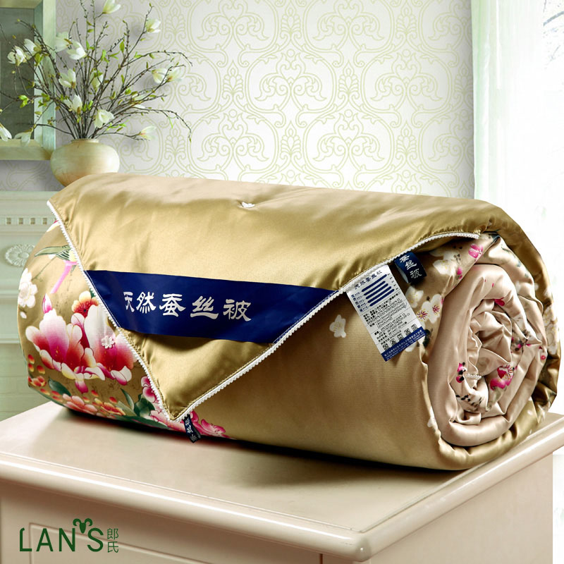 2016 Luxury Shiny Natural Silk Summer Quilts Floral Blankets Bedspreads  High Quality Cool Thin Comforters Twin Queen Size AG18. Luxury Bedspreads Comforters Reviews   Online Shopping Luxury