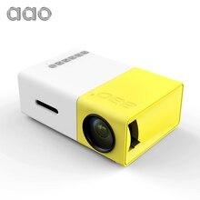 AAO YG300 Mini Portátil Proyector LED Para Cine En Casa Proyector de Juegos del Jugador de la Ayuda 1080 P Con SD USB HDMI Niños la educación