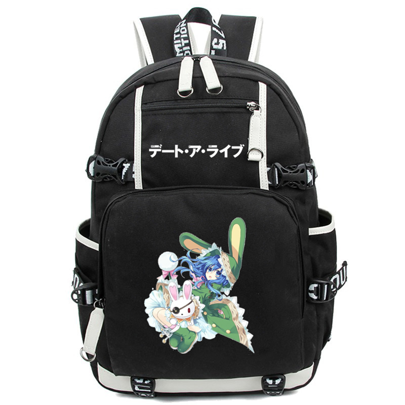 Anime Date A Live Backpack Shoulders Bag Tokisaki Kurumi Printing Cosplay Rucksack Schoolbag Free Shipping