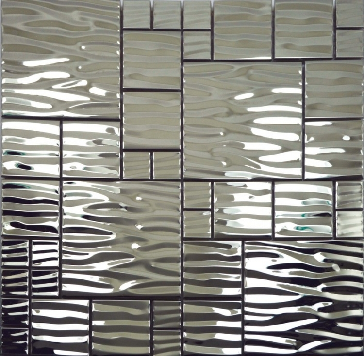 Free Shipping Silver Color Stainless Steel Metal Mosaic Tiles For Hallway Mosaic Tiles Kitchen