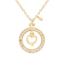 Senfai New Fashion Heart Pendant Necklace Jewelry for Women Best Gift Simple Design Gold Color Love Choker