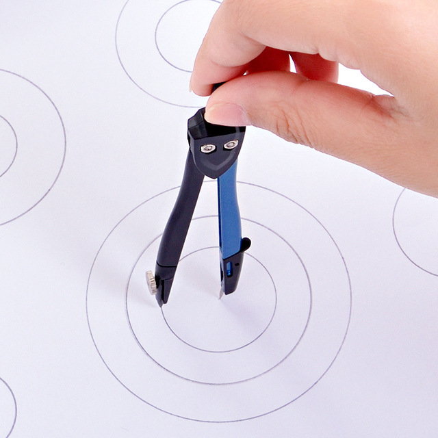 2pcslot Metal Drawing Compasses Students Draw Circular Tools Test