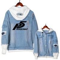New PERSONA 5 hoodie Anime Jeans Coat Men Women Fashion Jacket