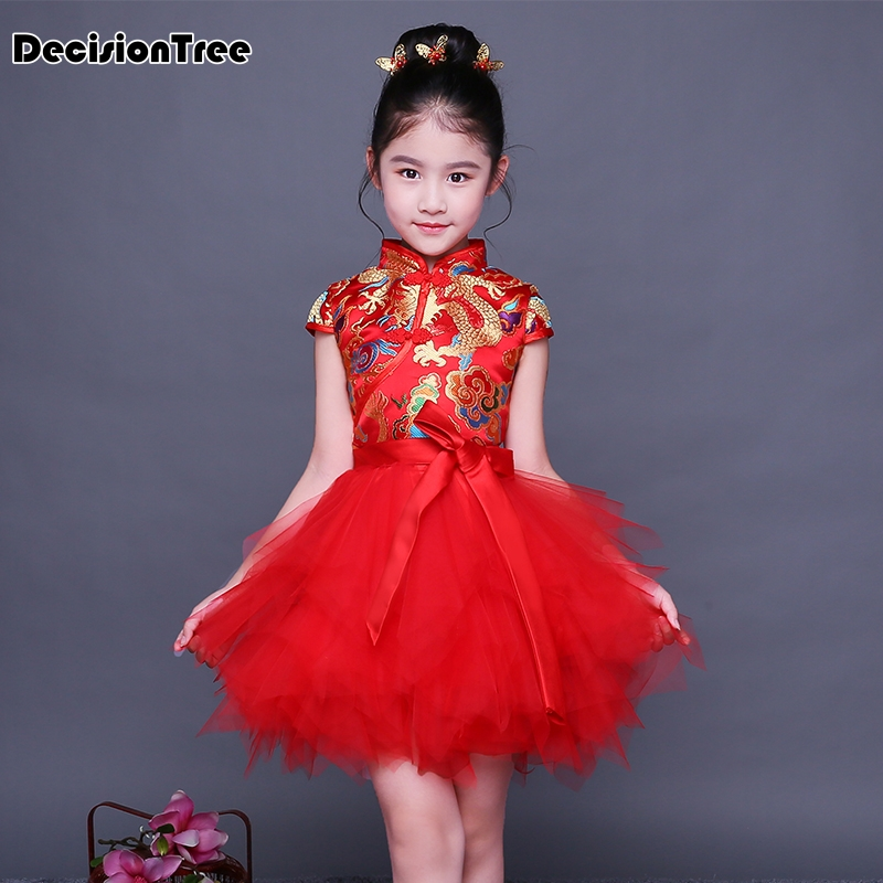 2019 new floral baby qipao girl dresses kid chinese style pao cheongsam year gift children's clothes