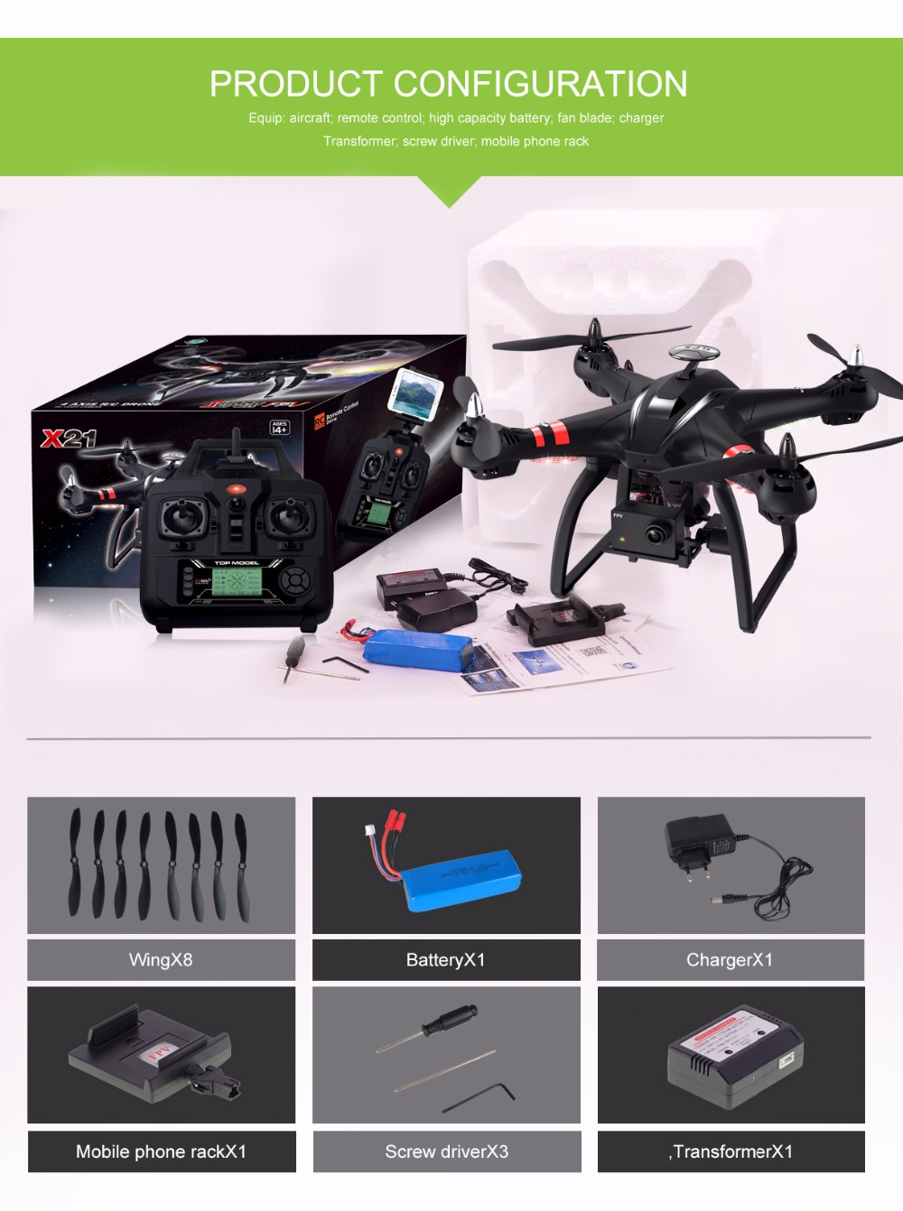 NEW X21 Brushless Double GPS FPV Drone With 1080P WiFi Camera 2.4G 6Axis RC Quadcopter Helicopter VS MJX X102H B2W