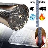 140cm X100cm Car Hood Engine Firewall Heat Mat Deadener Sound Insulation Deadening Material Aluminum Foil Sticker