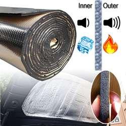140cm x100cm Car Hood Engine Firewall Heat Mat Deadener Sound bonnet Insulation Deadening Material Aluminum Foil Sticker
