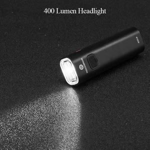 Image 3 - ROCKBROS 400LM luce per bici faro per bicicletta con supporto per montaggio IPX3 USB torcia ricaricabile per bici Combo supporto anteriore esterno
