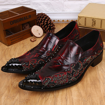 Calzado Hombre Casual Pointed Oxford Shoes Fashion Leather Business Iron Leather Shoes