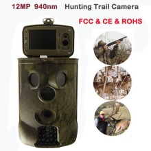 New 12MP Infrared Hunting Camera Night Vision Trail Scouting Camera IR LED 940nm 2.36 inch TFT Cycling Save/Video/Audio